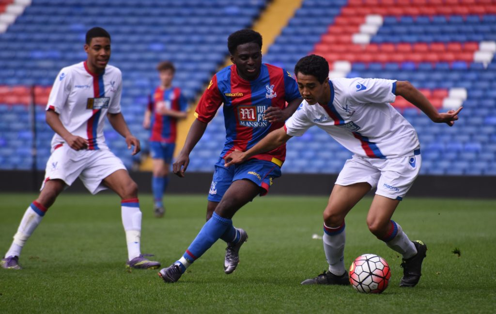 Players from Palace for Life's college academies competing at Selhurst Park