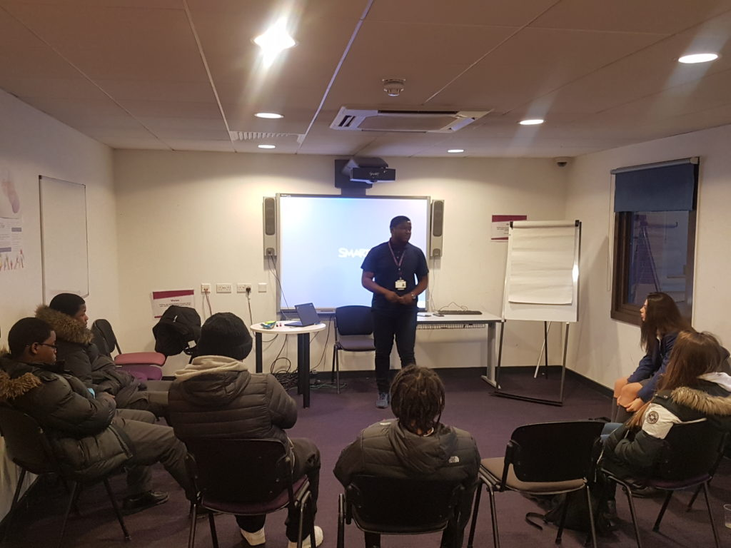 Participants being taught on the Snap Back programme