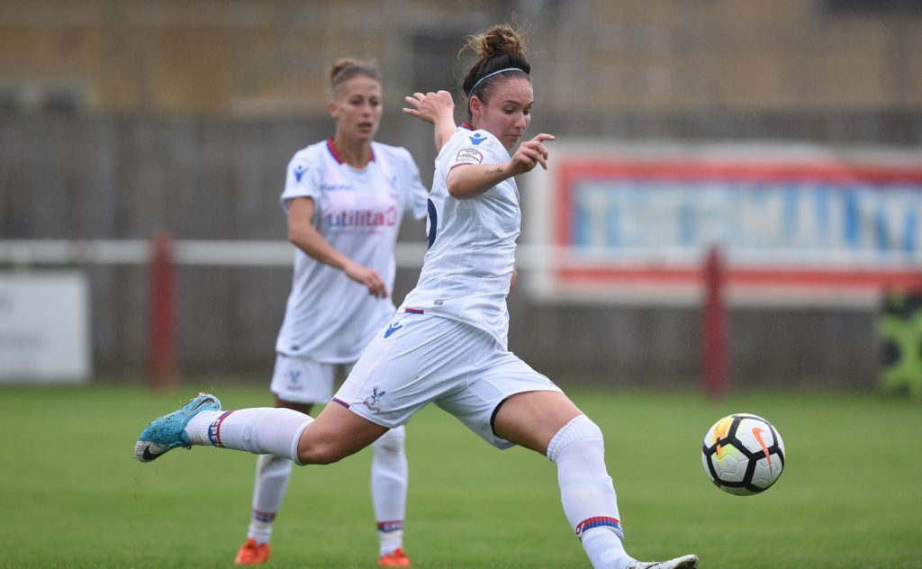 Ellie Stenning playing for Palace Ladies