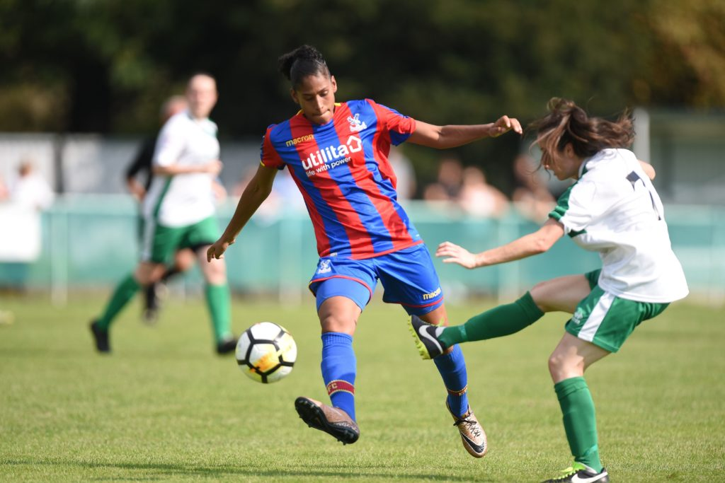 Gemma Bryan in action for Palace Ladies