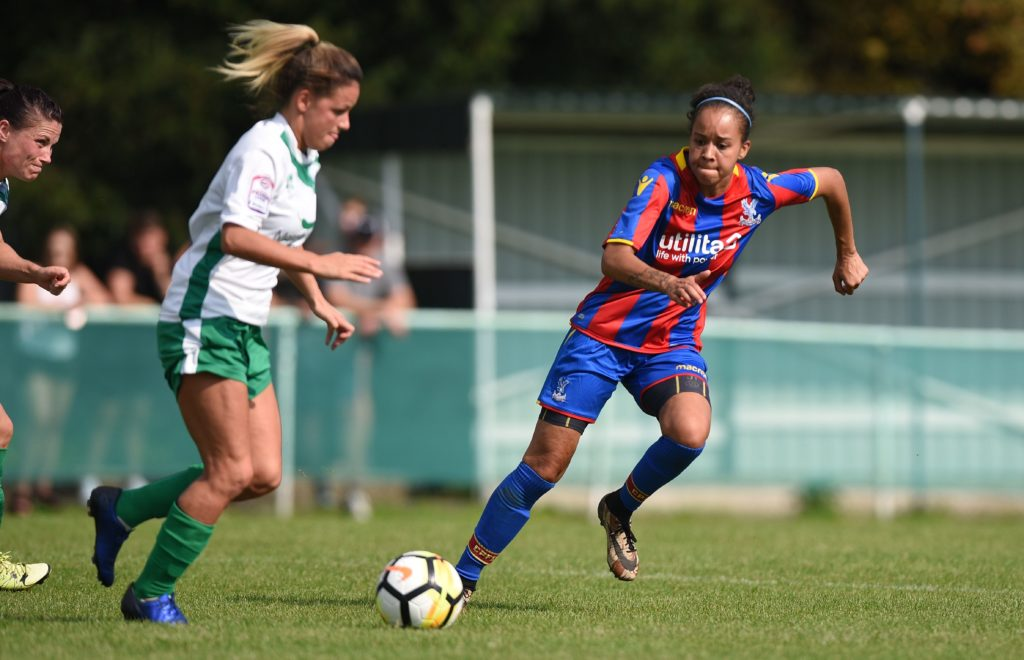 Pam McRoberts playing for Palace Ladies