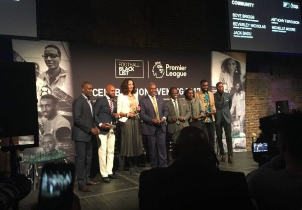 Foundation Director Soye Briggs at the Football Black List Celebration on the 8 November