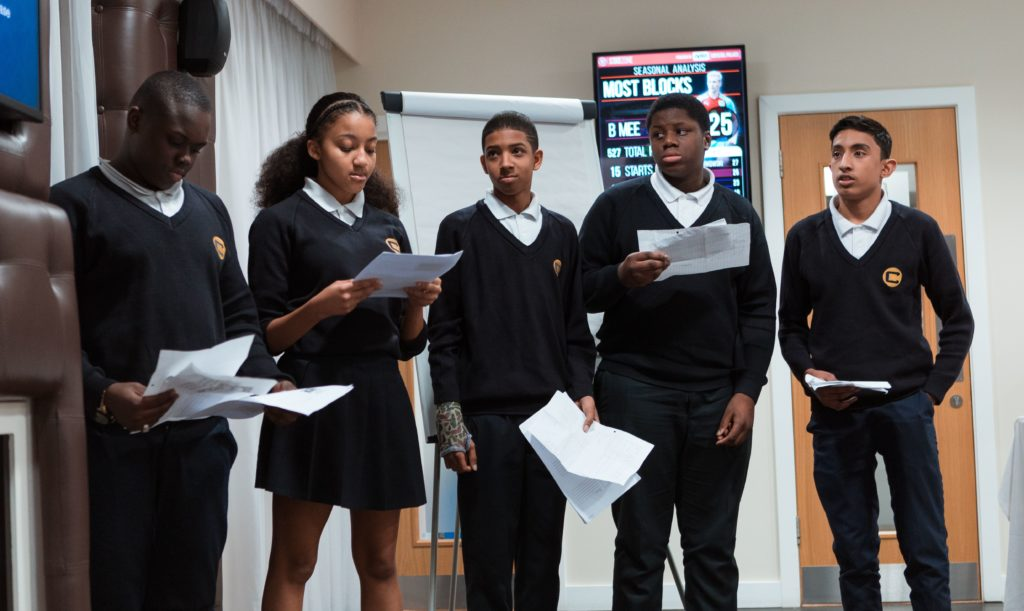 The Charter School presenting at the PL Enterprise Challlenge