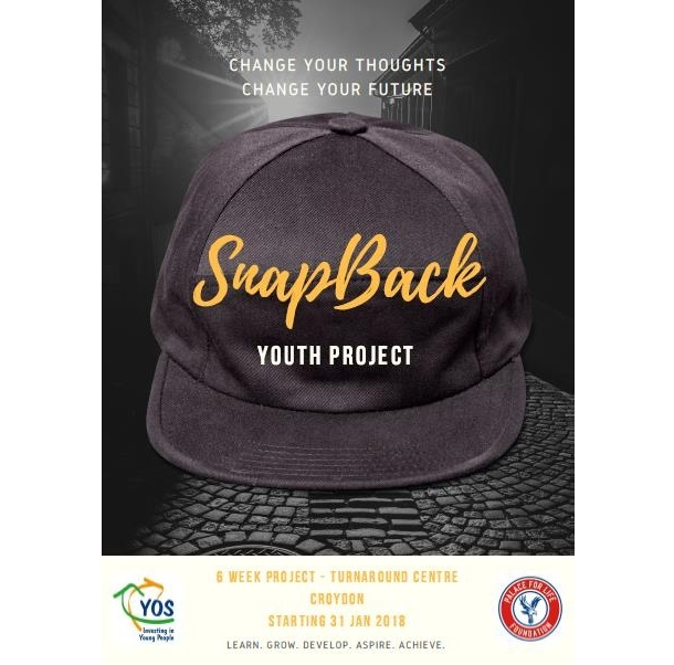 Programme flyer for Palace for Life's new Snap Back project