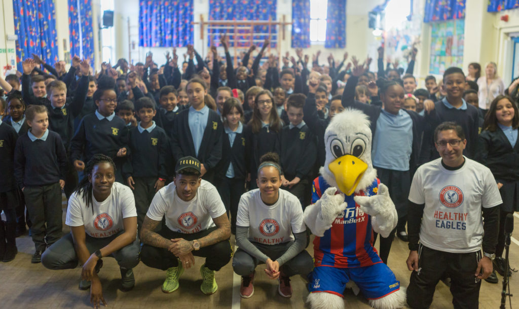 Van Aanholt at the Healthy Eagles launch