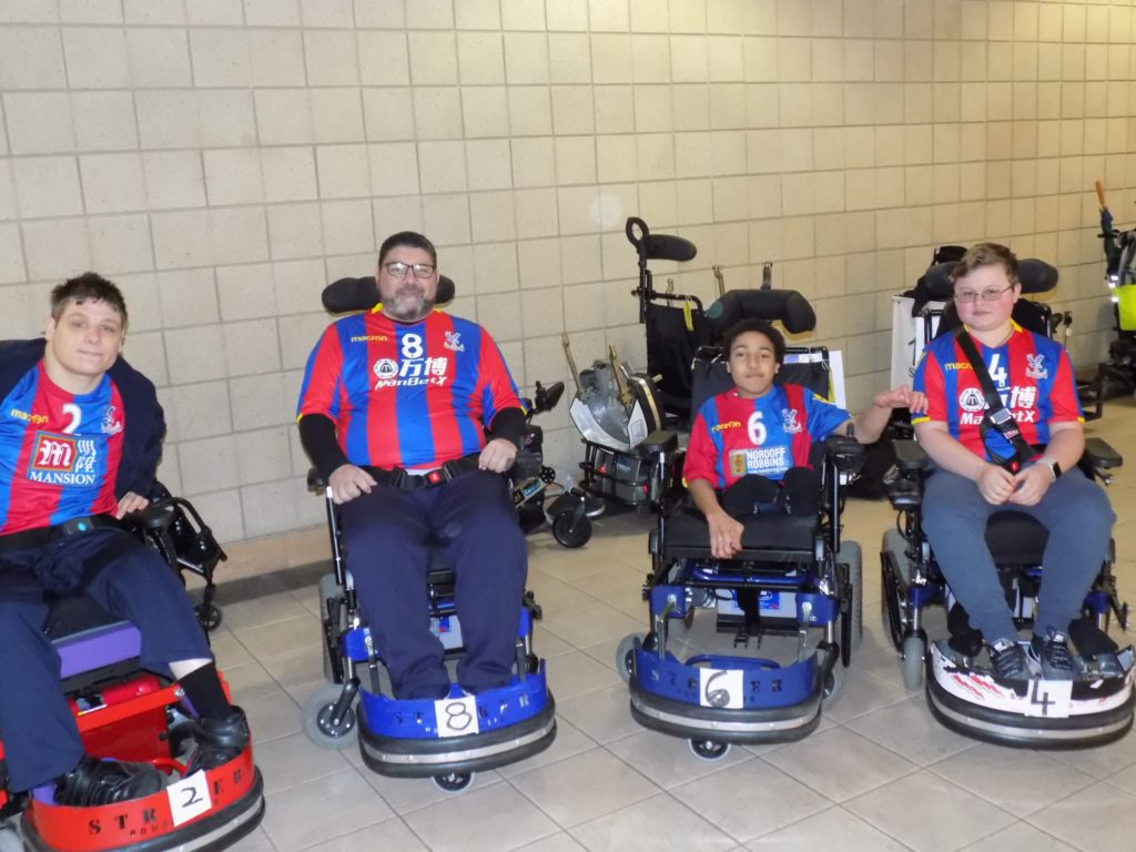 Palace for Life's Powerchair Football team