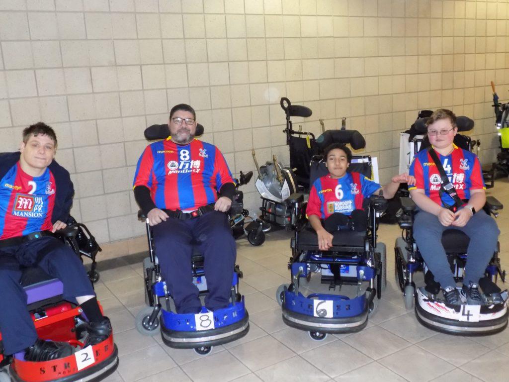 Palace for Life's Powerchair Football team