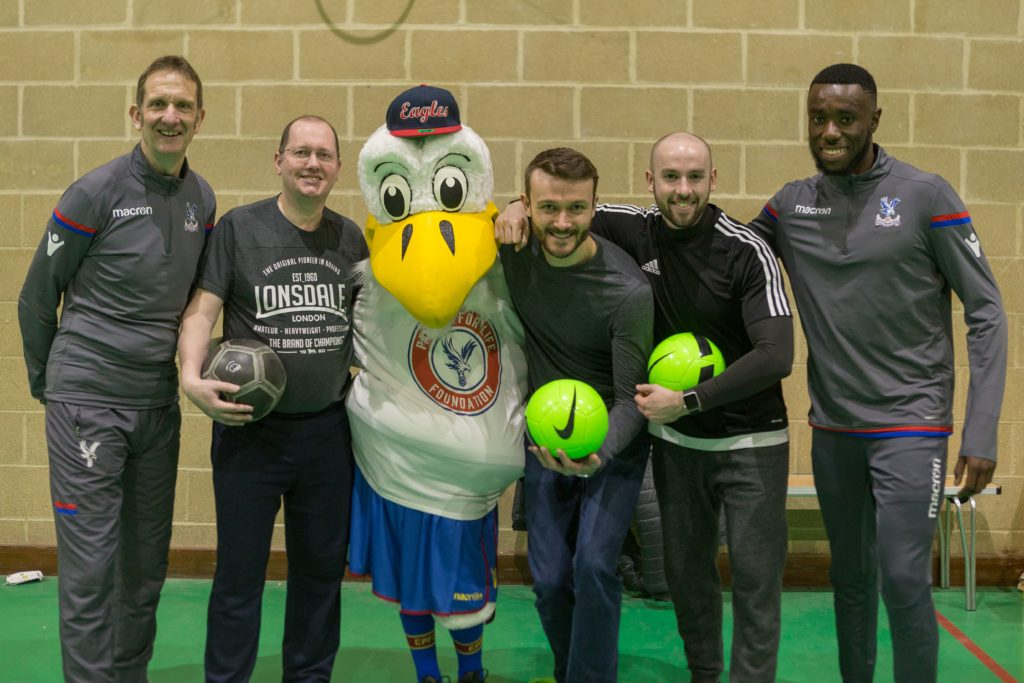 BT Volunteers and Palace for Life staff alongside Chris the Eagle
