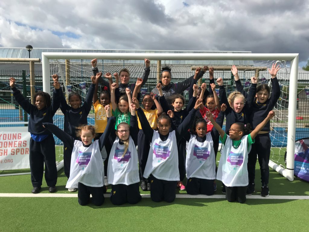 Pupils at Heavers Farm celebrate Girls Football Week