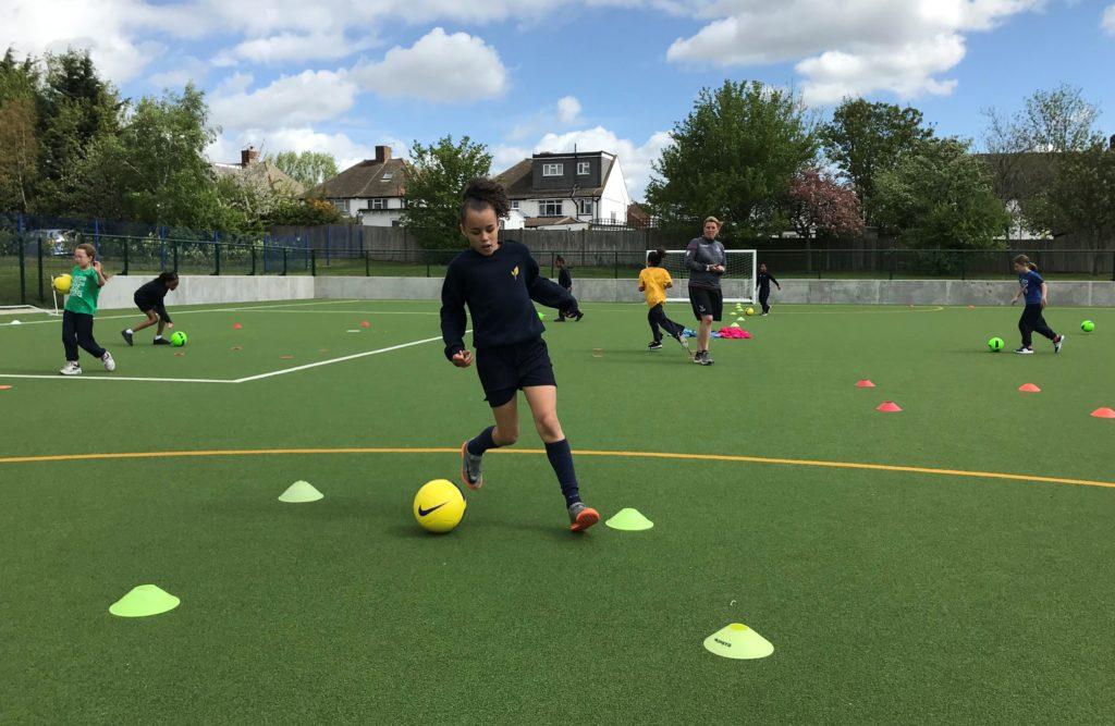 Skills during Girls Football Week