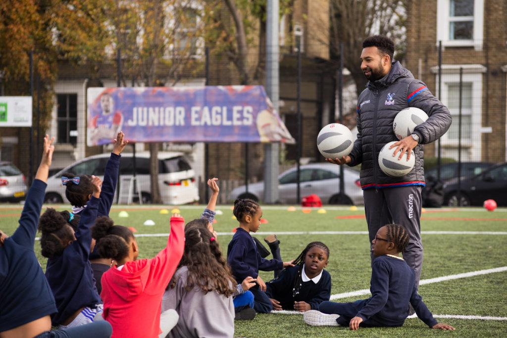Coach with children