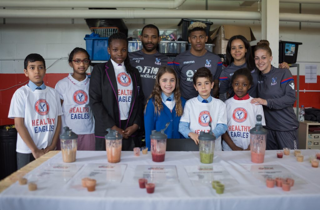 Group with their smoothies