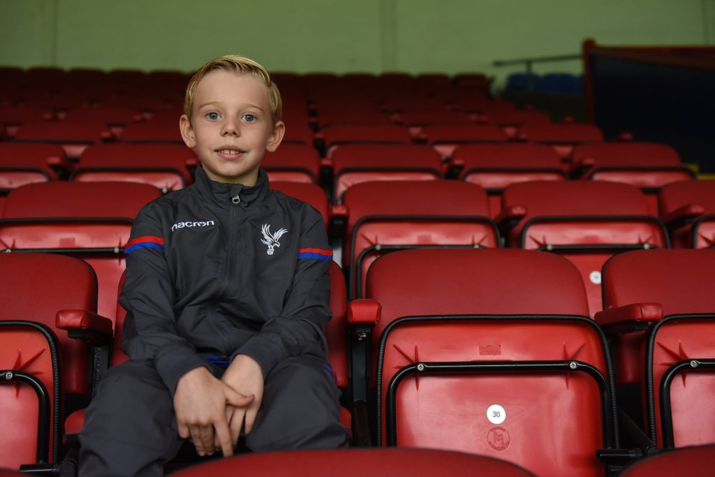 Charlie signed with the Crystal Palace under 9s