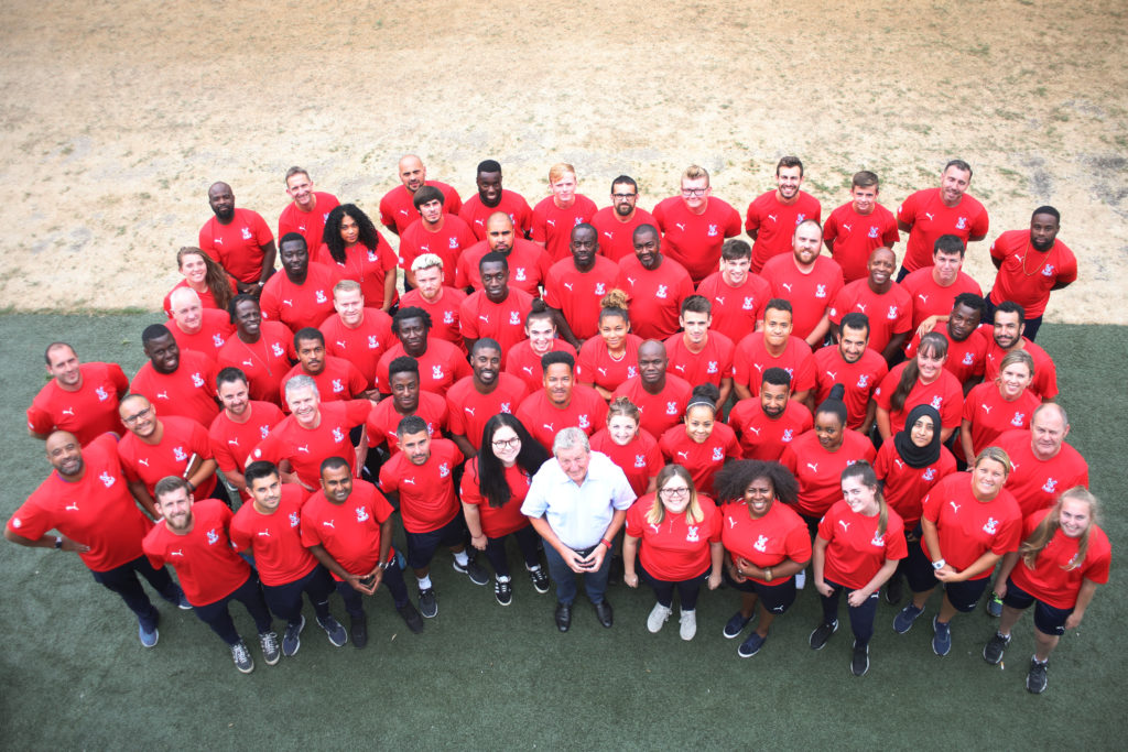 Roy Hodgson with Foundation staff
