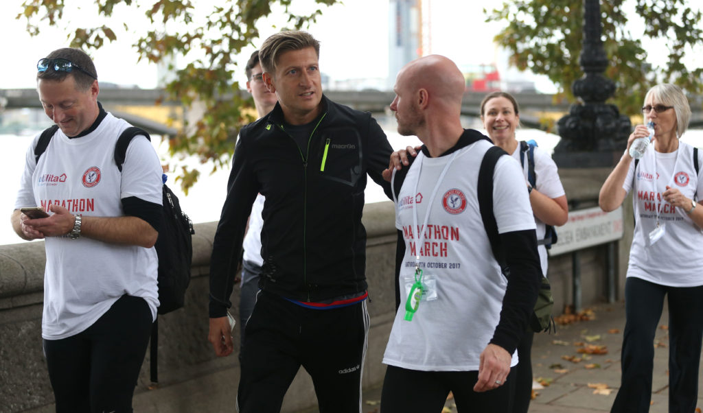 Steve Parish and Andy Johnson on the Marathon March