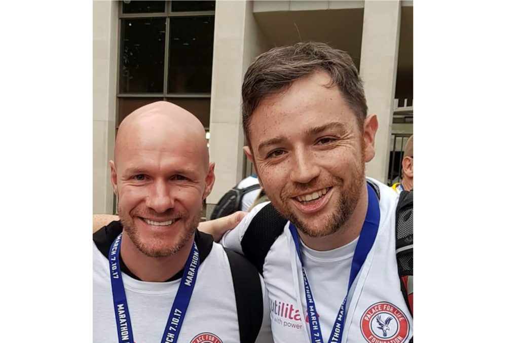 Andy Street with Andy Johnson at the Marathon March 2017