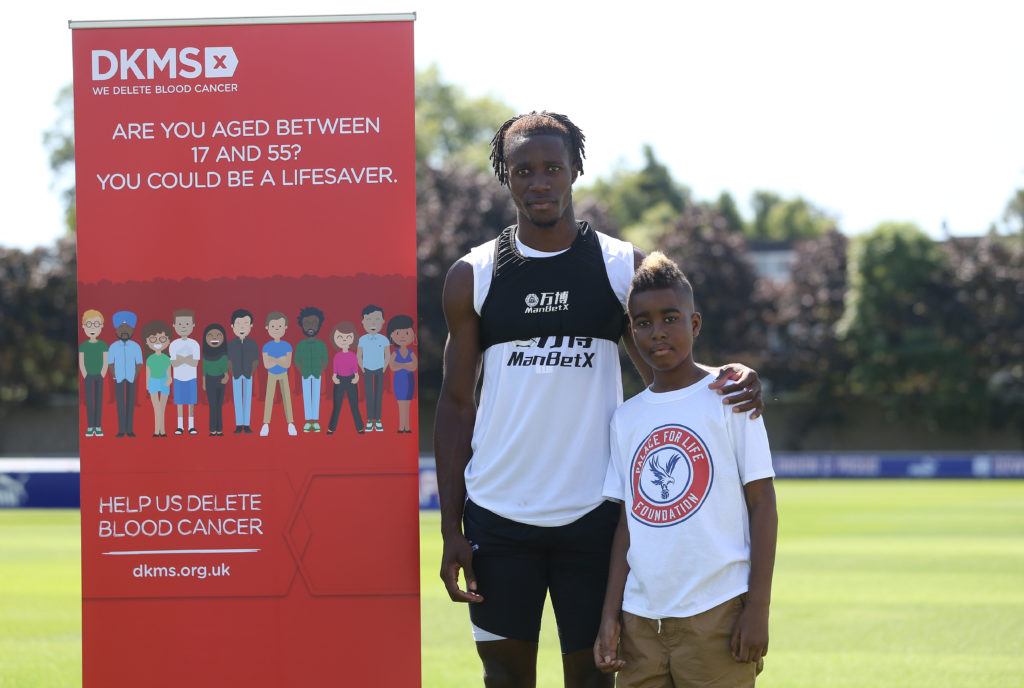 Damary with Wilf Zaha