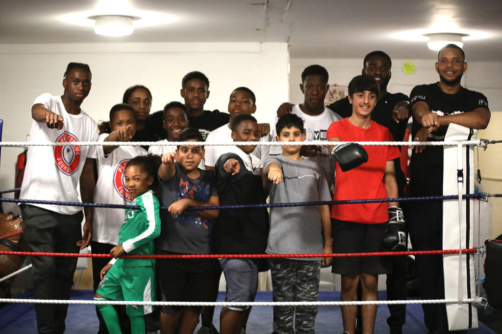 Aaron Wan-Bissaka and Joshua Buatsi join the Gloves not Gunz session in Norbury