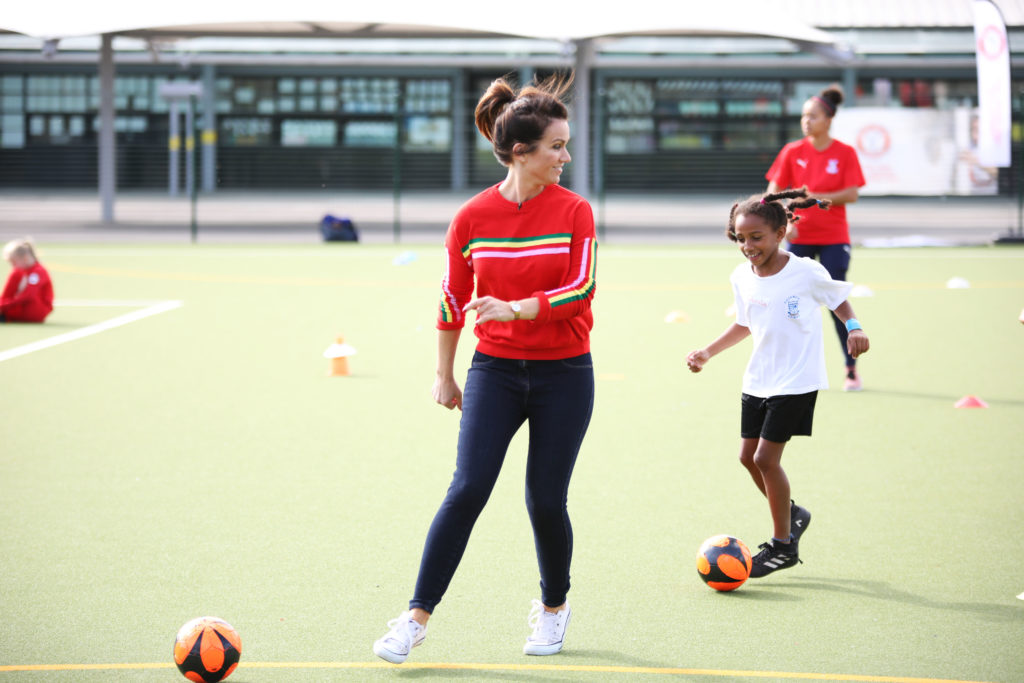 Susanna Reid at a Girls Football Festival