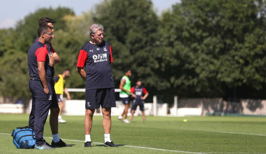 Dr. Zafar Iqbal with Palace manager Roy Hodgson