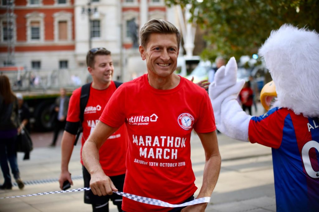 Steve Parish at Marathon March