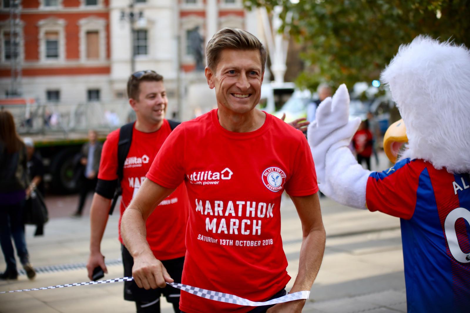 Steve Parish at Marathon March