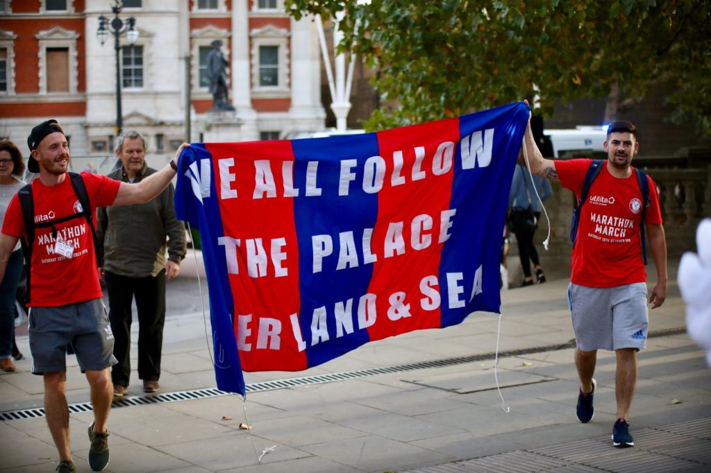 Palace fans at the Marathon March