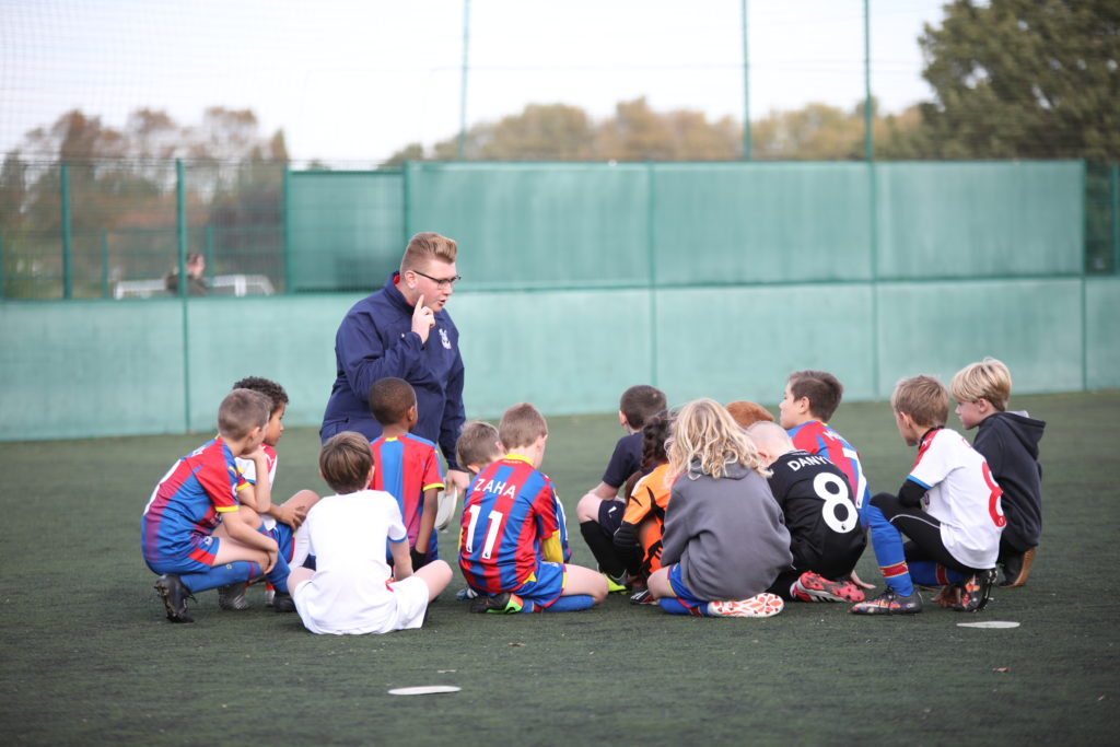Palace Soccer School with coach